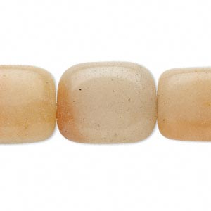 bead, red aventurine (natural), light to dark, medium tumbled nugget, mohs hardness 7. sold per 15-inch strand.