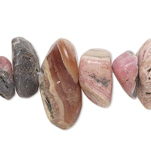 bead, rhodochrosite (natural), extra-large chip, mohs hardness 3-1/2 to 4-1/2. sold per 8-inch strand.