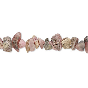 bead, rhodochrosite (natural), matte, medium chip, mohs hardness 3-1/2 to 4-1/2. sold per 15-inch strand.