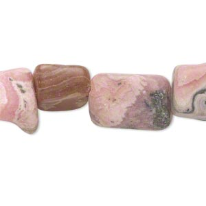 bead, rhodochrosite (natural), small flat nugget, mohs hardness 3-1/2 to 4-1/2. sold per 15-inch strand.
