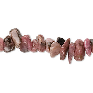 bead, rhodonite (natural), medium chip, mohs hardness 5-1/2 to 6-1/2. sold per 36-inch strand.