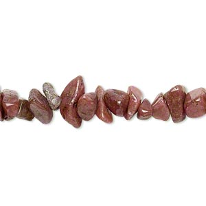 bead, rhodonite (natural), small chip, mohs hardness 5-1/2 to 6-1/2. sold per 15-inch strand.