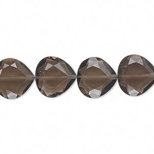 bead, smoky quartz (heated / irradiated), 12x12mm hand-cut faceted teardrop, b grade, mohs hardness 7. sold per pkg of 10.