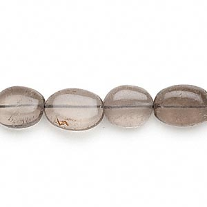 bead, smoky quartz (heated / irradiated), light, 9x8mm-17x10mm hand-cut puffed oval, c- grade, mohs hardness 7. sold per 13-inch strand.
