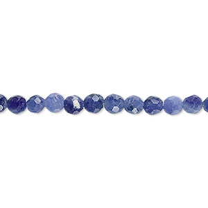 bead, sodalite (natural), 4mm faceted round, b grade, mohs hardness 5 to 6. sold per 16-inch strand.