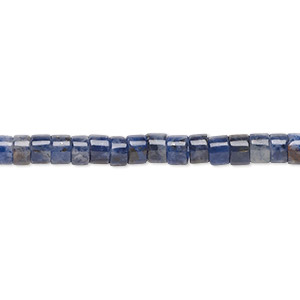 bead, sodalite (natural), 4x2mm heishi, b grade, mohs hardness 5 to 6. sold per 16-inch strand.