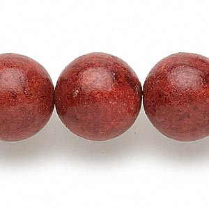 bead, sponge coral (dyed / coated), red, 17-19mm round, c- grade, mohs hardness 3-1/2 to 4. sold per 15-inch strand.