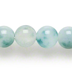 bead, spotted agate (dyed), green, 12-13mm round, c grade, mohs hardness 6-1/2 to 7. sold per 15-inch strand.
