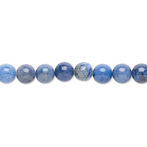 bead, sunset dumortierite (natural), 6mm round, b grade, mohs hardness 6-1/2 to 7. sold per 16-inch strand.