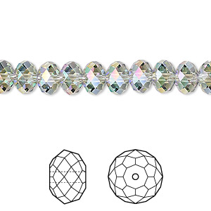 bead, swarovski crystals, crystal paradise shine, 8x6mm faceted rondelle (5040). sold per pkg of 288 (2 gross).