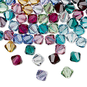 bead, swarovski crystals, crystal passions, birthstone, 6mm xilion bicone (5328). sold per pkg of 24.