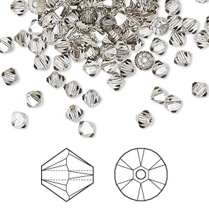 bead, swarovski crystals, crystal passions, crystal satin, 4mm xilion bicone (5328). sold per pkg of 48.