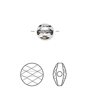 bead, swarovski crystals, crystal passions, crystal silver night, 8mm faceted mini round (5052). sold per pkg of 24.
