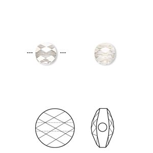 bead, swarovski crystals, crystal passions, crystal silver shade, 6mm faceted mini round (5052). sold per pkg of 2.