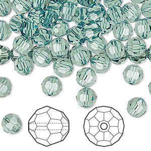 bead, swarovski crystals, crystal passions, erinite, 6mm faceted round (5000). sold per pkg of 144 (1 gross).