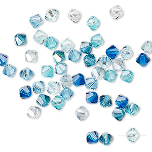 bead, swarovski crystals, crystal passions, pacifica, 4mm xilion bicone (5328). sold per pkg 48.