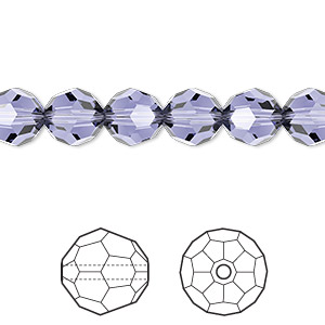 bead, swarovski crystals, crystal passions, provence lavender, 8mm faceted round (5000). sold per pkg of 144 (1 gross).