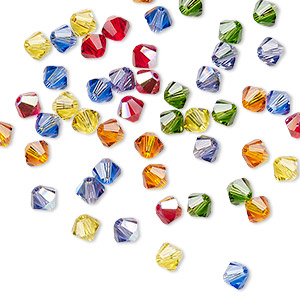 bead, swarovski crystals, crystal passions, rainbow, 4mm xilion bicone (5328). sold per pkg 48.
