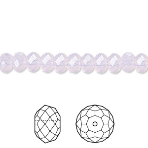 bead, swarovski crystals, crystal passions, rose water opal, 6x4mm faceted rondelle (5040). sold per pkg of 144 (1 gross).