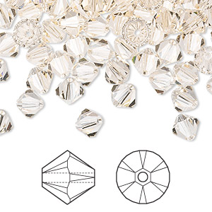 bead, swarovski crystals, crystal passions, silk, 6mm xilion bicone (5328). sold per pkg of 24.