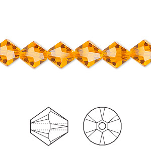 bead, swarovski crystals, crystal passions, sun, 8mm faceted bicone (5301). sold per pkg of 72.
