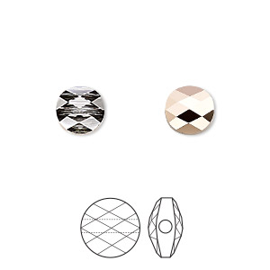 bead, swarovski crystals, crystal rose gold, 8mm faceted mini round (5052). sold per pkg of 144 (1 gross).