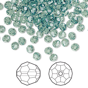 bead, swarovski crystals, erinite, 4mm faceted round (5000). sold per pkg of 720 (5 gross).