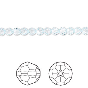 bead, swarovski crystals, light azore, 4mm faceted round (5000). sold per pkg of 12.