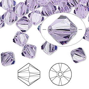 bead, swarovski crystals, violet, 8mm xilion bicone (5328). sold per pkg of 288 (2 gross).