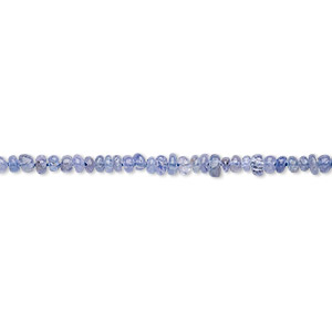 bead, tanzanite (heated), 2x1mm-3x2mm hand-cut rondelle, c grade, mohs hardness 6 to 7. sold per 12-inch strand.
