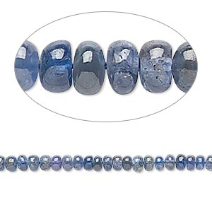 bead, tanzanite (heated), 3x1mm-4x2mm hand-cut rondelle, c grade, mohs hardness 6 to 7. sold per 8-inch strand.