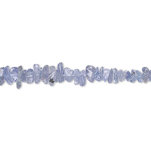 bead, tanzanite (heated), hand-cut mini chip, mohs hardness 6 to 7. sold per 16-inch strand.