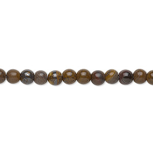 bead, tiger iron (natural), 4mm round, b grade, mohs hardness 7. sold per 16-inch strand.