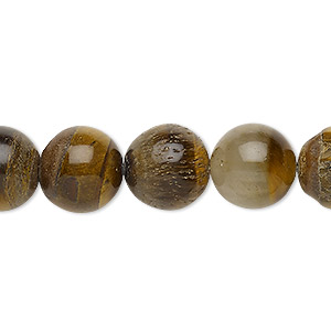 bead, tigereye (natural), 12-13mm round, d grade, mohs hardness 7. sold per 15-inch strand.