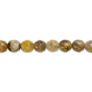 bead, tigereye (natural), 6-7mm faceted round, d grade, mohs hardness 7. sold per 16-inch strand.