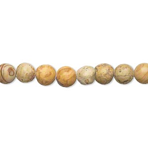 bead, tigerskin jasper (natural), 4-6mm round, d grade, mohs hardness 4 to 5. sold per 15-inch strand.