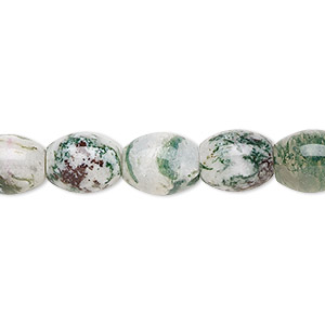 bead, tree agate (natural), 10x8mm barrel, b grade, mohs hardness 6-1/2 to 7. sold per 16-inch strand.