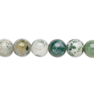 bead, tree agate (natural), 8mm round, b grade, mohs hardness 6-1/2 to 7. sold per 16-inch strand.