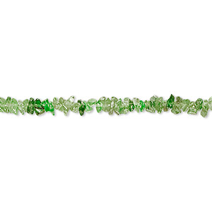 bead, tsavorite garnet (natural), light to medium, mini hand-cut chip with 0.4-1.4mm hole, mohs hardness 7 to 7-1/2. sold per 16-inch strand.