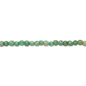 bead, turquoise (dyed / stabilized), 2.5-3mm round, c grade, mohs hardness 5 to 6. sold per 16-inch strand.
