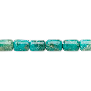bead, turquoise (dyed / stabilized), 8x6mm tube, b grade, mohs hardness 5 to 6. sold per 16-inch strand.