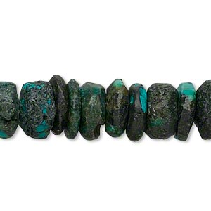 bead, turquoise (dyed / stabilized), blue, 10x6mm-12x2mm rondelle, d grade, mohs hardness 5 to 6. sold per 15-inch strand.