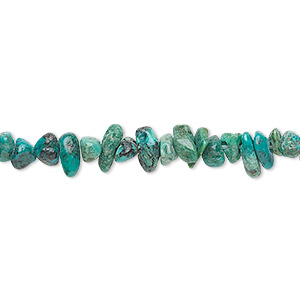bead, turquoise (dyed / stabilized), mini nugget, mohs hardness 5 to 6. sold per 16-inch strand.