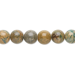 bead, verdite (natural), 8mm round, b grade, mohs hardness 3-1/2 to 4. sold per 16-inch strand.