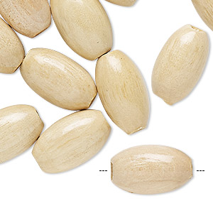bead, wood (coated), 18x11mm oval. sold per pkg of 24.