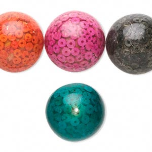 bead, wood (coated), multicolored, 24mm round. sold per pkg of 8.