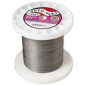 beading wire, accu-flex, nylon and stainless steel, clear, 21 strand, 0.014-inch diameter. sold per 1,000-foot spool.