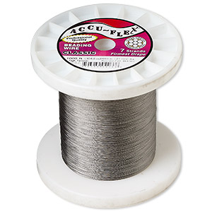 beading wire, accu-flex, nylon and stainless steel, clear, 7 strand, 0.0083-inch diameter. sold per 1,000-foot spool.