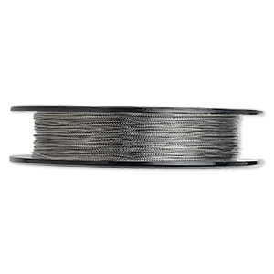 beading wire, tigertail™, nylon-coated stainless steel, clear, 3 strand, 0.012-inch diameter. sold per 100-foot spool.