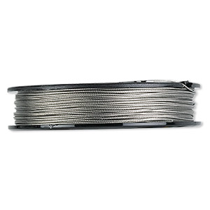 beading wire, tigertail™, nylon-coated stainless steel, clear, 7 strand, 0.024-inch diameter. sold per 30-foot spool.